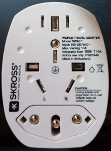 Earthed World Travel Adapter